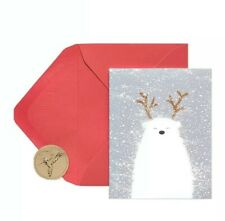 Papyrus Polar Bear Christmas Cards Boxed (20 count) Holiday Cards glitter NEW