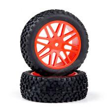 66015 front Wheel Complete 2 pcs Orange HSP  buggy  1/10 06010