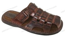 4fe0109b2c77 Mens Slides Sandals Closed Toe Hook and Loop Flip Flops Casual Fisherman  SLIPPER Black-