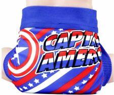 Captain America Logo Adjustable Polyester Unisex Children's Reusable Diaper