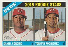 2015 TOPPS HERITAGE DANIEL CORCINO-YORMAN RODRIGUEZ--REDS ROOKIE STARS #311