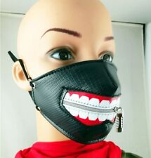 Punk Rave Masquerade Womens Mens Mask Mouthguard Faux Leather Goth Hip Hop Gift