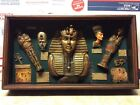 """Vintage Egyptian """"Artifacts"""" Framed Shadow Box12"""" X 20"""" Unusual Unique"""
