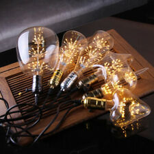 LED Edison Bulb Starry Christmas Fairy String Party Lights Dimmable Lamp Xmas