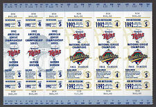 ORIGINAL MINNESOTA TWINS 92 PRE-WORLD SERIES & ALCS GAME TICKETS FOR GAMES 3-4-5
