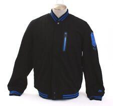 Nike Brasil CBD Black Wool Blend Zip Front Destroyer Jacket Brazil Men's Large L