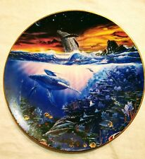 "Hamilton Collection Enchanted Seascapes ""Edge of Time"" Plate 8"" John Enright"