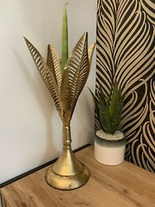 Large gold leaf Candle Stick Candle Holder Home Decoration