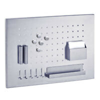 Edelstahl Magnettafel mit Zubehör Memotafel Memoboard Pinwand Magnet Tafel