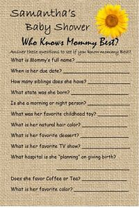 12 Personalized - Who Knows Mommy Best - Baby Shower Game - Dr. Seuss and others