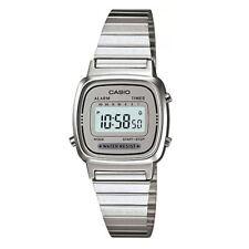 Casio Women's Silver Stainless Steel Digital Watch Alarm Timer LA670WA-7D