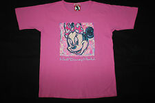 Disney Inc 1928 Minnie Mouse Womens T Shirt Pink Cotton Size M