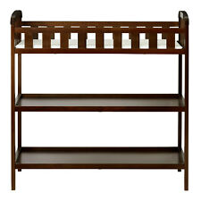 Emily Baby Changing Table 2Shelf Solid Wood Minimalist Portable Storage Espresso