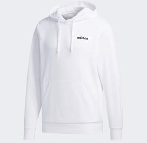 Adidas Hoodie Mens Authentic Essentials Feel Cozy Training Sweatshirt White
