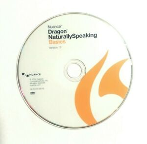 Nuance Dragon NaturallySpeaking Basics 13 DISC ONLY WITH ACTIVATION CODES