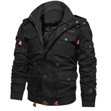 Men's Winter Fleece Jackets Warm Hooded Thermal Thick Outerwear Military  Coat