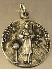 New listing Jcc Sterling Silver St Genesius Rosary Pendant 052719aC