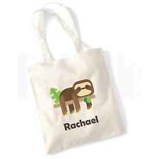 Personalised 'Sloth' Canvas Tote Bag