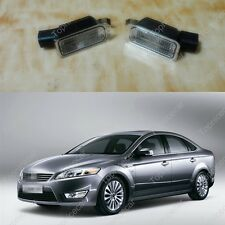 1Pair License Plate Light Lamps w/Bulb Holders For Ford Mondeo Mk4 2007-2010