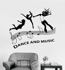 Vinyl Wall Decal Music Dance Floor Party Night Club Stickers (1071ig)
