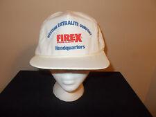 VTG-1990s Western Extralite Firex Smoke Alarms rope leather strapback hat sku7