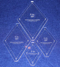 "Quilt Templates-No Tip 60° Diamond 4 Pc Set- 2"",3"",4"",5"" -Acrylic 1/8"" w/guides"