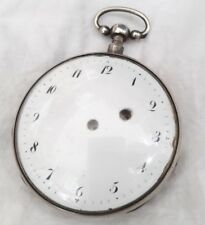 French Swiss Silver Quarter Repeater Verge watch Repair. *1800s*