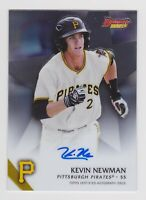 KEVIN NEWMAN 2015 BOWMAN'S BEST # B15-KN - ON-CARD AUTOGRAPH - PIRATES!
