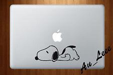 Macbook Air Pro Vinyl Skin Sticker Decal Sleeping Cartoon Dog Beagle Pet M069