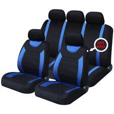 Universal Coche Carnaby negro y azul fundas de asiento lavable Airbag Safe 8 piezas conjunto