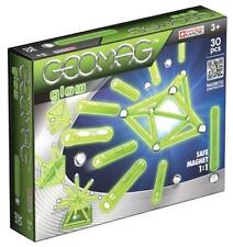 New Geomag Glow Magnetic Construction Building Set 30 Piece Kids Gift Toy