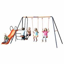 Hedstrom Europa Metal Double Swing / Glider / Slide For Kids / Children / Child