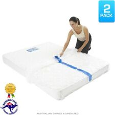2x Heavy Duty Mattress Moving Cover Self-Seal Storage Bags King Queen Single Bed