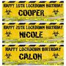 2 personalised birthday banner Lockdown Quarantine virus 2020 fun party poster