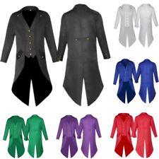Retro Victorian Steampunk Gothic Men Tailcoat Jacket Swallow Frock Coat Uniforms