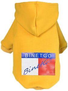 BinetGo Dog Hoodies Pet Clothes Dog Sweatshirts Pullover Cat Jackets Yellow M