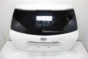 2011 2012 Toyota Highlander Powered Trunk lid Deck Tailgate Hatch Blizzard White
