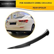 Carbon Fiber Rear Spoiler Wing Factory Fit For Maserati Ghibli Sedan  2014-2016