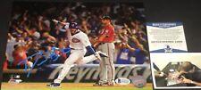 David Bote Chicago Cubs Signed 8x10 Photo Beckett COA WALKOFF GRAND SLAM