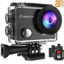 Crosstour Action Kamera 4k 20mp WiFi Unterwasser 30m, Fernbedienung, wasserdicht
