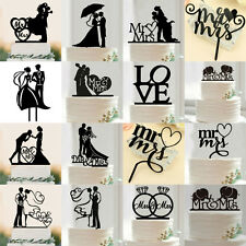 Wedding romantic cake toppers ebay bride groom wedding cake topper wedding party decor mr mrs cake topper junglespirit Choice Image