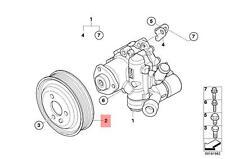 Genuine BMW E60N E61N E81 E82 E83N E84 Steering Pump Pulley OEM 32428514565