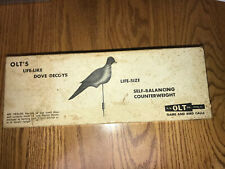 Vintage P.S. Olt Life-Like Dove Decoys With Self-Balancing Counterweights