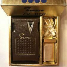 Super Nice Vintage Zephyr ZR-620 Transistor Radio Original Box Carry Case Earbud