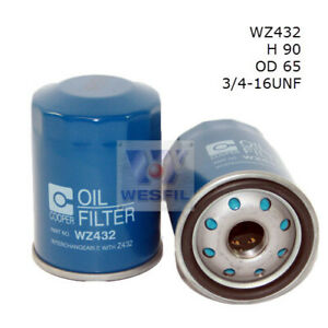 Wesfil  Oil Filter   WZ432 Z432 suits TOYOTA