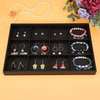 Jewelry Leather Display Box Ring Necklace Organizer Holder Earrings Storage Case