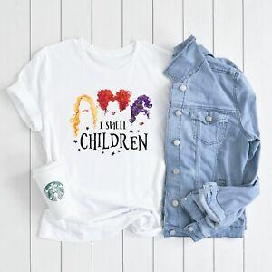 HOCUS POCUS I smell children Halloween T-shirt womens fashion witches