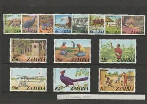 Zambia. full set of stamps 1975 Definitives - Animals, Mint-MNH
