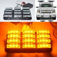 36 Yellow Led Emergency Vehicle Strobe Lights/Light bars Deck Dash Grille Amber