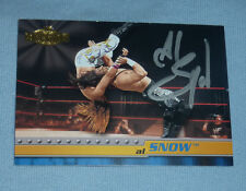 Al Snow Signed 2001 Fleer Championship Clash WWF WWE Card #13 Autograph w/ Head